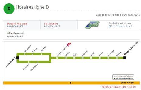 Bus Ligne D reliant le quartier Saint-Hubert à la Gare Prud'Homme