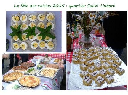 Fête des voisins 2015, quartier Saint-Hubert