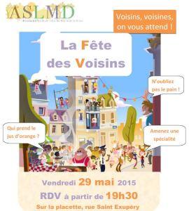 Affiche 2015 Fête des Voisins Quartier Saint-Hubert